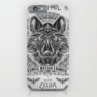 iPhone & iPod Case featuring Legend of Zelda Twilight Wolf Link Line Art by Barrett Biggers