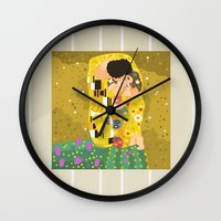 The Kiss (Lovers) By Gus… Wall Clock