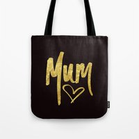 Mum Handwritten Type Tote Bag
