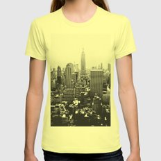 sightline Womens Fitted Tee Lemon SMALL