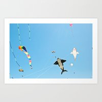 ocean shores (three) Art Print