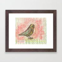 Bird on a Budget Framed Art Print