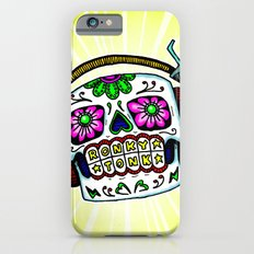 Sugar Skull with Headphones Zombie by RonkyTonk iPhone 6s Slim Case