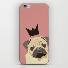 Royal pug iPhone & iPod Skin