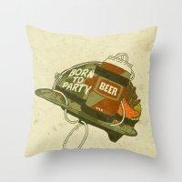 Born To Party Throw Pillow