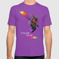 Color Your World Mens Fitted Tee Ultraviolet SMALL