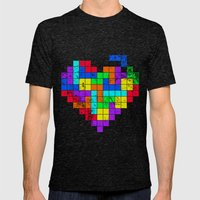 The Game of Love -Dark version Mens Fitted Tee Tri-Black SMALL