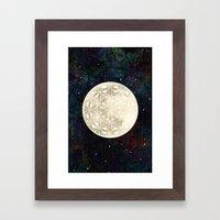 The Flower Of Life Moon … Framed Art Print