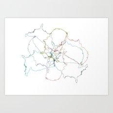 Map collage Art Print