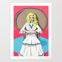 Art Print featuring Seventies Dolly  by Mexican Zebra