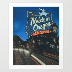 Made in Oregon Art Print