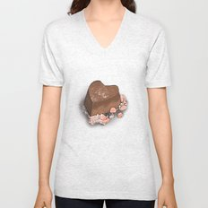 Valentine's Day with Sea Salt (Single Chocolate) Unisex V-Neck
