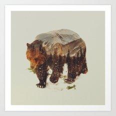 Wild Grizzly Bear Art Print