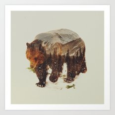 Wild Grizzly Bear Art Print