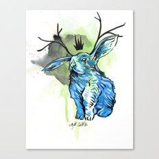 Blue Jackalope Canvas Print
