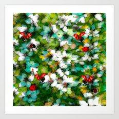 ladybugs festival Art Print