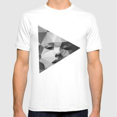 Monroe Mens Fitted Tee SMALL White