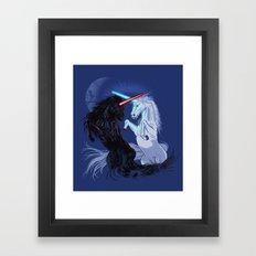 Starwars with Unicorns  Framed Art Print