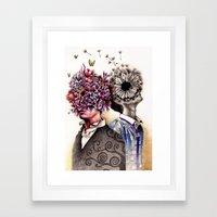 Optimist/Pessimist Framed Art Print