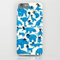 Blue Animals Black Hats iPhone & iPod Case