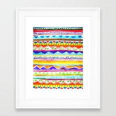 Autumn Tribal Framed Art Print