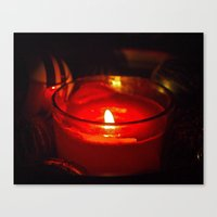 Canvas Print featuring Candle details by Vorona Photography