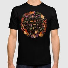 Autumn is a Second Spring SMALL Mens Fitted Tee Black