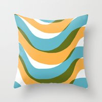 Wave - Palm Springs Circa 1967 Throw Pillow