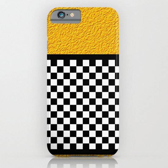 Checkered/Textured Gold iPhone & iPod Case