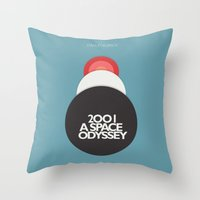 2001 a Space Odyssey - Stanley Kubrick Movie Poster Throw Pillow