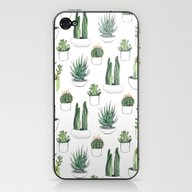 Watercolour Cacti And Su… iPhone & iPod Skin