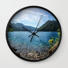 Lake Crescent Olympic Mountain Pano Wall Clock