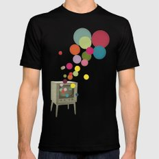 Colour Television Mens Fitted Tee SMALL Black