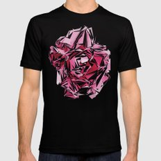 Broken Peony Mens Fitted Tee SMALL Black
