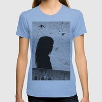 Girl in Córdoba Womens Fitted Tee Athletic Blue SMALL
