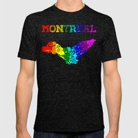Montréal Mens Fitted Tee Tri-Black SMALL