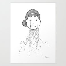 Sometimes it is too Tough Art Print