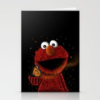 Elmo and Little Butterfly Stationery Cards