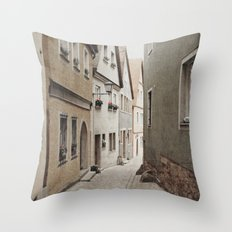 Italian Alley - Muted Tones Throw Pillow