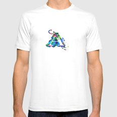 A art SMALL White Mens Fitted Tee