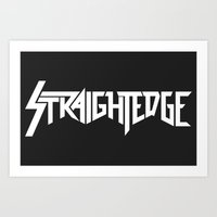 Straight Edge Metal Logo Art Print