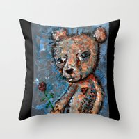 MY ADORING HEART WEEPS Throw Pillow