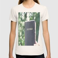 Holy Bible w/ bokeh Womens Fitted Tee Natural SMALL