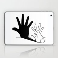 Rabbit Hand Shadow Laptop & iPad Skin