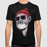 Team Zissou Mens Fitted Tee Tri-Black SMALL