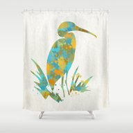 Colorful Stork Art Shower Curtain