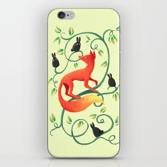 Bunnies and a Fox iPhone & iPod Skin