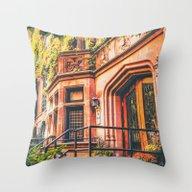 Throw Pillow featuring New York City Autumn Pum… by Vivienne Gucwa