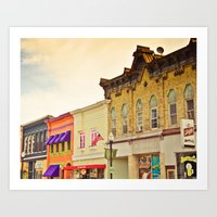Small Town Colors Art Print