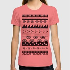 tribal pattern Womens Fitted Tee Pomegranate SMALL